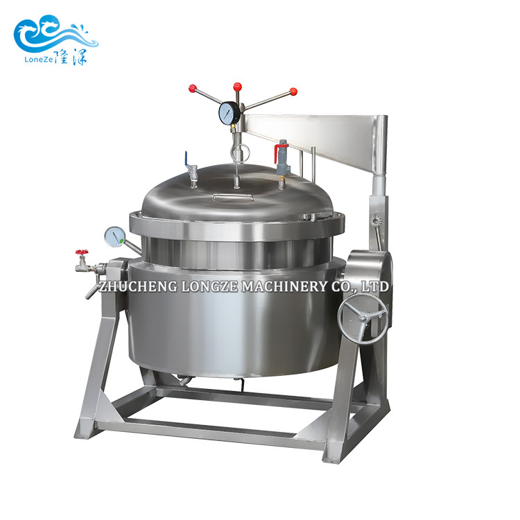 Vertical High Pressure Cooking Jacketed Kettle