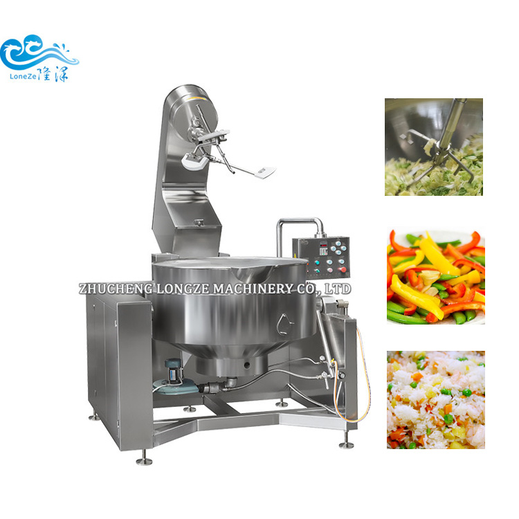 Industrial Cooking Jacketed Kettle Mixer Machine With Planetary Mixing Agitator