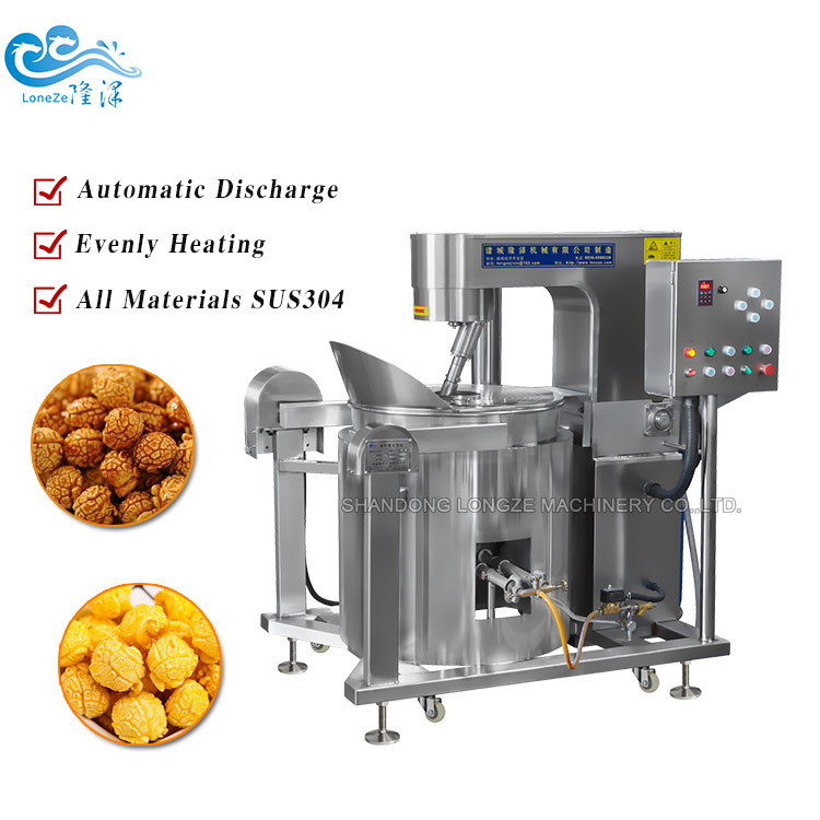Chocolate Fruit Flavors Industrial Popping Corn Maker