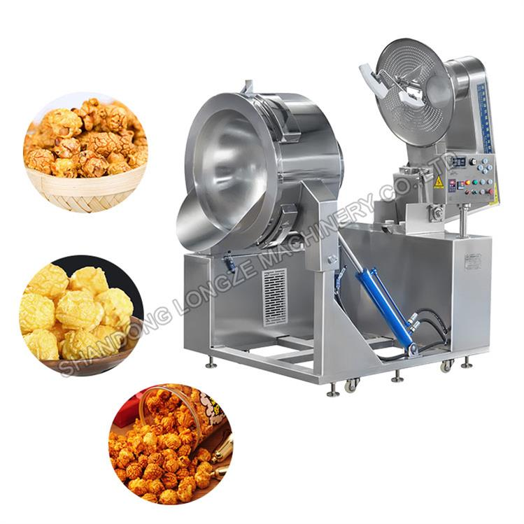 Industrial Butter Flavored Popcorn Machine For Direct Coating Caramel Flavor Chocolate Flavor Gourmet Popcorns