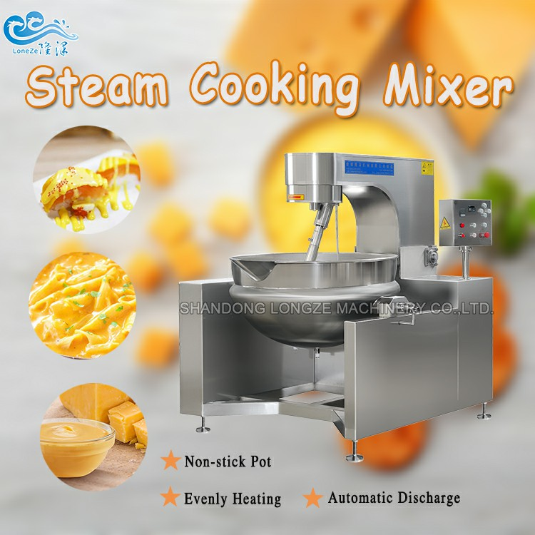 Steam Heated Manual Jacketed Kettle Cooking Mixer For Blueberry Jam Price