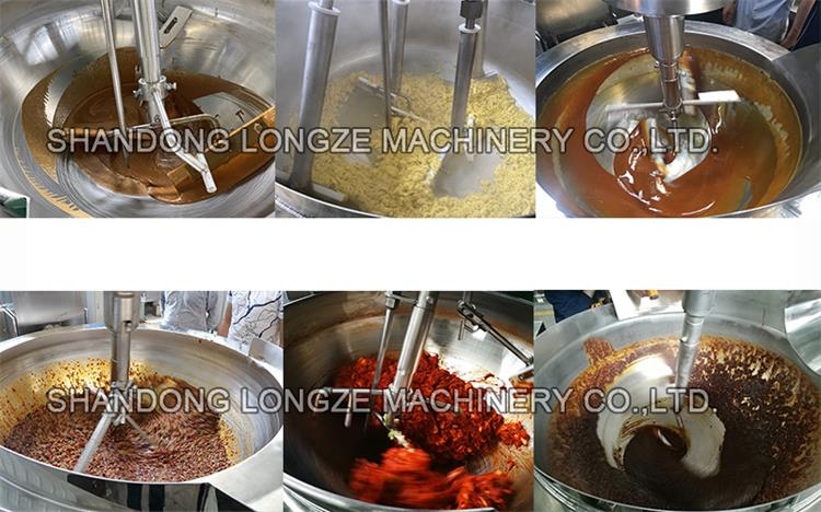 Jacketed Kettle with stirring is widely used in food processing such as confectionery