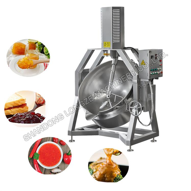 Automatic Industrial Salad Dressings Cooking Jacketed Kettle/Mayonnaise Mixing Machine With Mixer