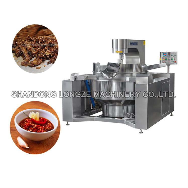 Porridge Cuisine Industrial Cooking Mixer Machine With Mixer _Fruit Jams Autotic Cooking Mixer Machin