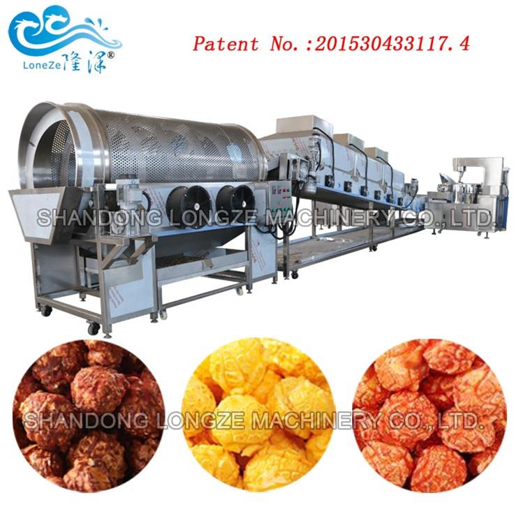Flavored Automatic Mushroom Popcorn Production Line Price