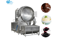 Kiwi Fruit Jams Automatic Stirring Cooking Mixer Machine For Commercial
